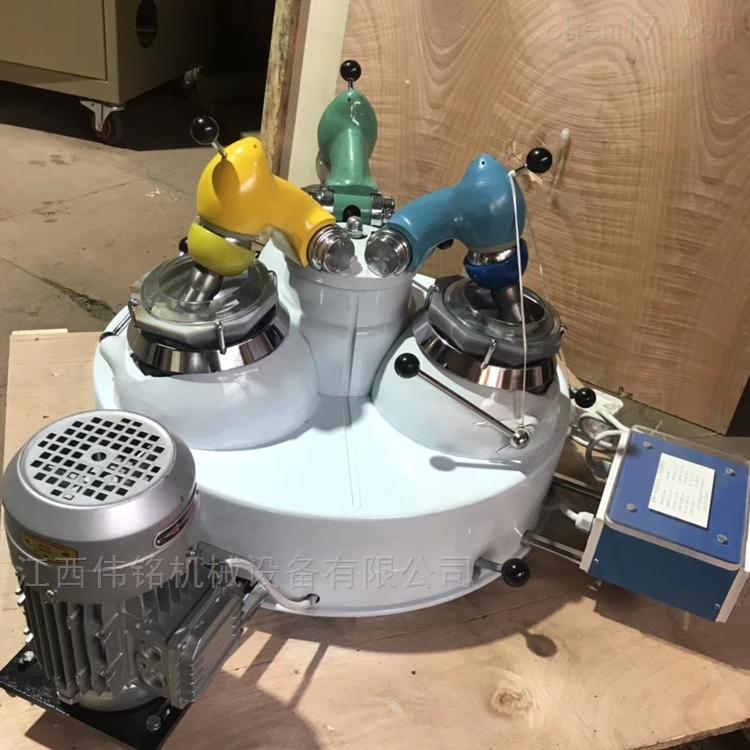 宁波矿冶试验磨矿机 实验室三头研磨机