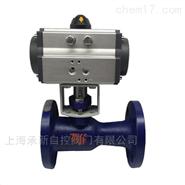 Q641M-16C DN25气动一体式高温法兰球阀