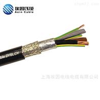 耐弯曲电缆TRVVP4*4.0柔性拖链屏蔽电缆