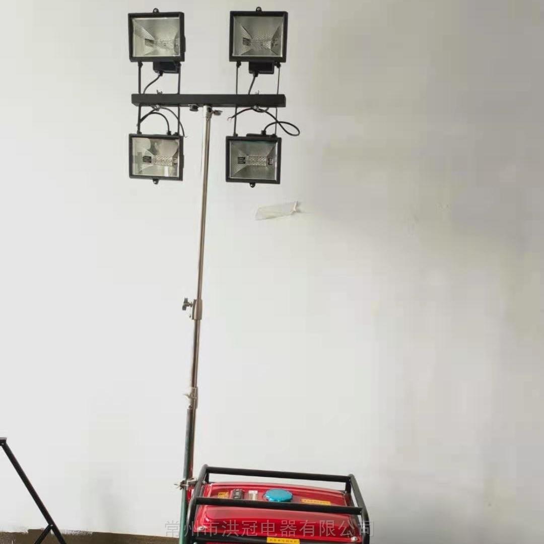 手摇式升降工作灯拖拉式照明灯车手动升降杆