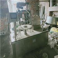 二手四头直线式灌装旋(轧)盖机 冲洗瓶机
