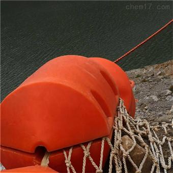 FT700*800水面垃圾隔离浮体 警示拦船橙色滚塑浮体