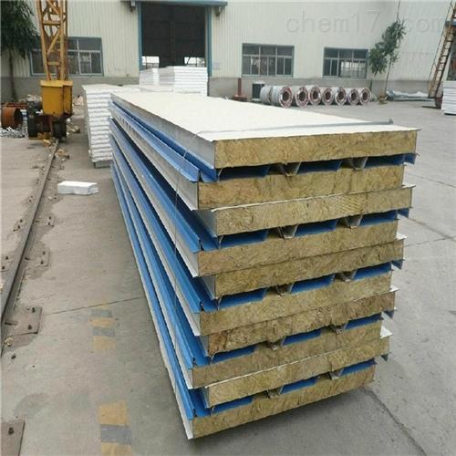机制岩棉板,净化板隔墙岩棉彩钢板作用