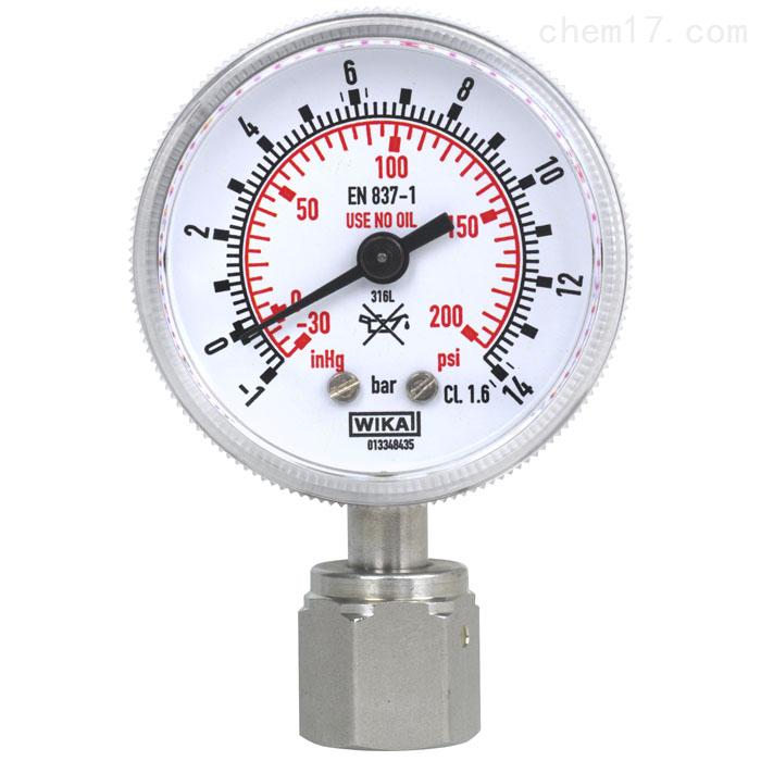 WIKA半导体行业应用波登管压力表及膜片式