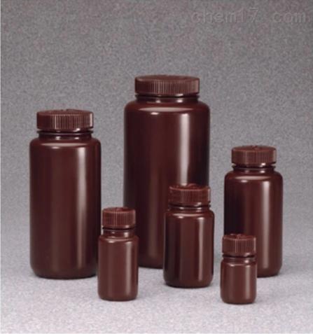Nalgene™ 广口不透明棕色 HDPE 带盖样品瓶