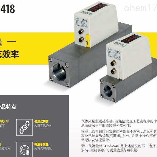 热式质量流量计S415 / S418