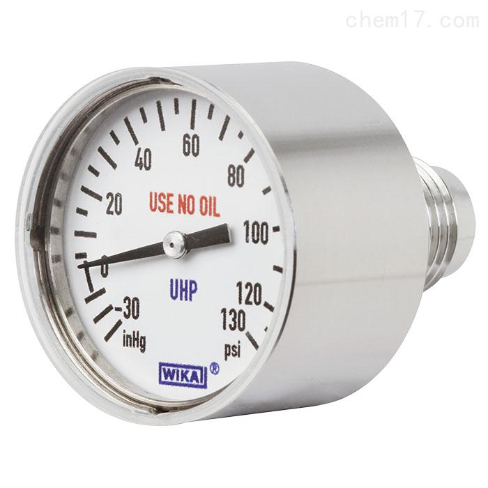 德国WIKA威卡波登管压力表,不锈钢材质