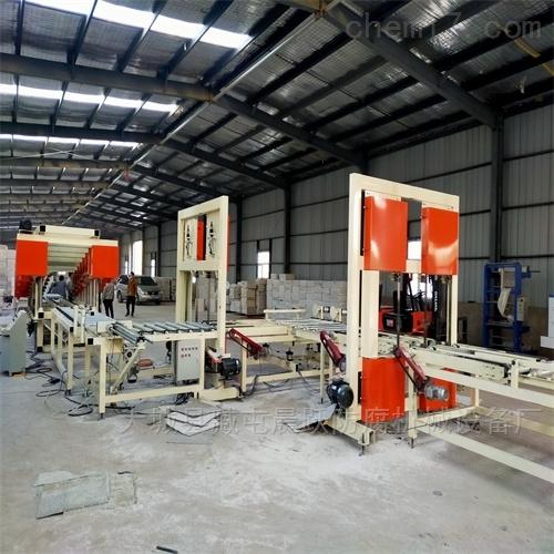 水泥基匀质板分层锯设备 保温板连续生产线
