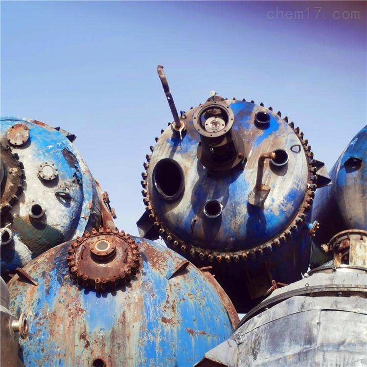 供应二手电加热搪瓷盘管式反应釜