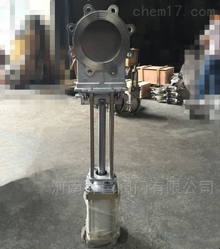PZ673W-10NR<strong><strong>气动高温刀型闸阀</strong></strong>