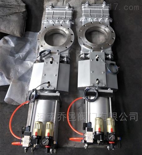 气动带防尘罩不锈钢硬密封刀型闸阀