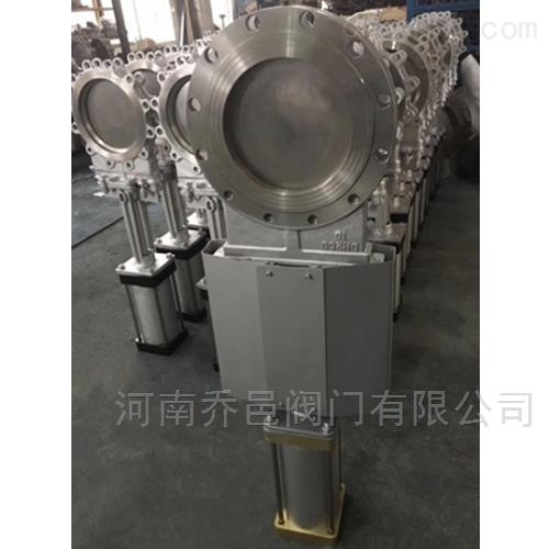 SCZ673W带防尘罩气动不锈钢穿透式插板阀