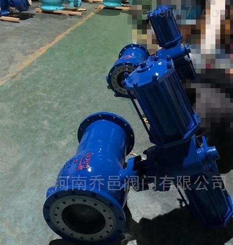 Q647MF钢铁厂气动耐磨卸灰球阀
