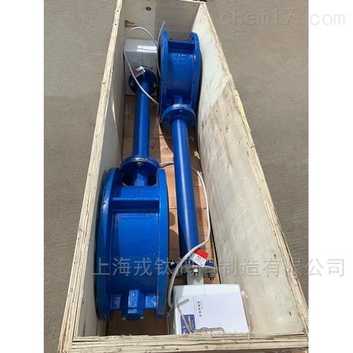 潜水型电动加长杆蝶阀IP68防水除湿加热型