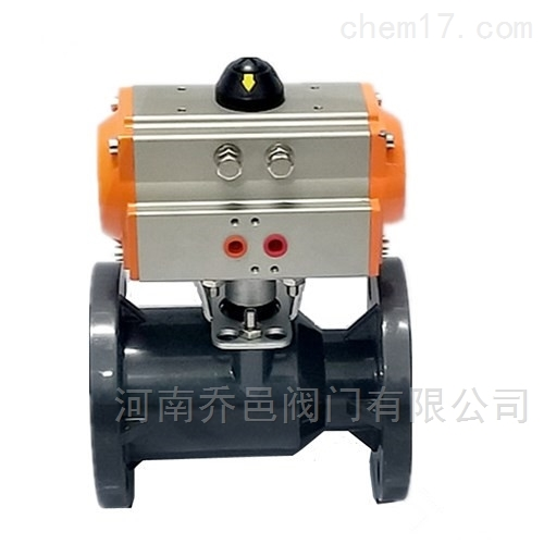 耐酸碱耐腐蚀气动UPVC塑料球阀