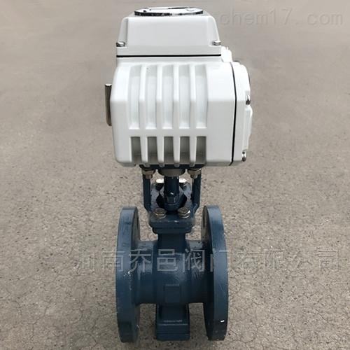 QV947F电动V型法兰球阀