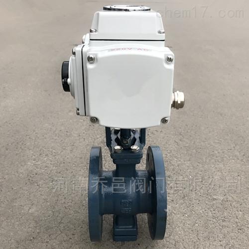VQ947W电动V型法兰球阀
