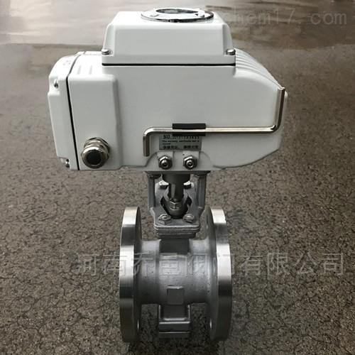 QV947Y电动V型球阀 电动V形法兰球阀