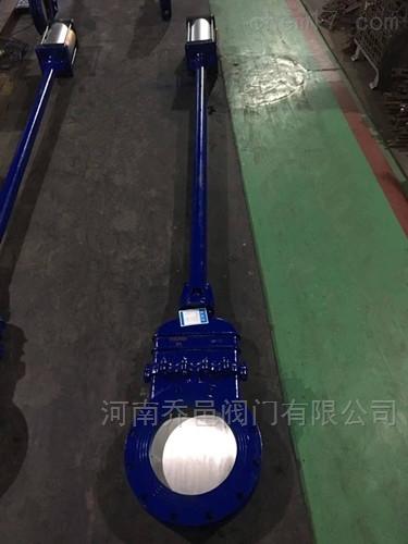 DMZ673H加长杆气动暗杆刀型闸阀DMZ673F/X/Y气动暗杆刀闸阀