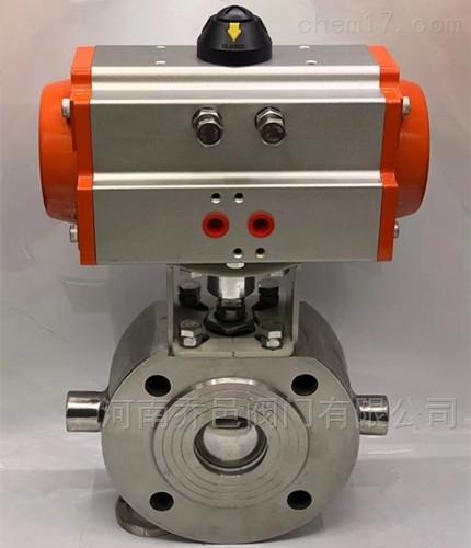 气动不锈钢意大利式薄型保温球阀 气动碳钢意大利式薄型保温球阀