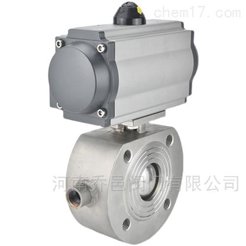 BQ671F气动对夹式保温球阀 气动意大利式保温球阀
