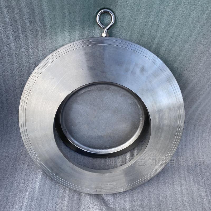 单板圆片式止回阀H74H对夹圆片式止回阀 圆片式超薄逆止阀 对夹单瓣旋启式止回阀