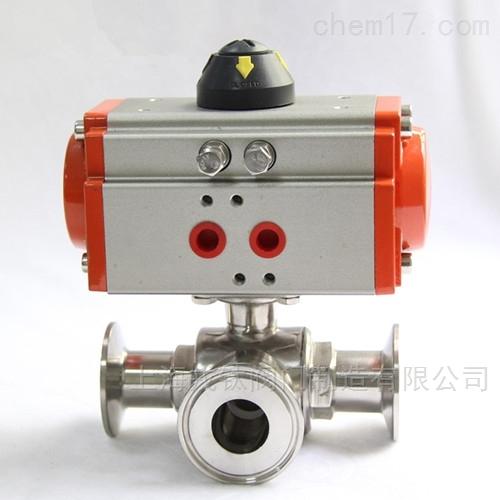 Q684F气动卫生级T型L型三通球阀Q685F
