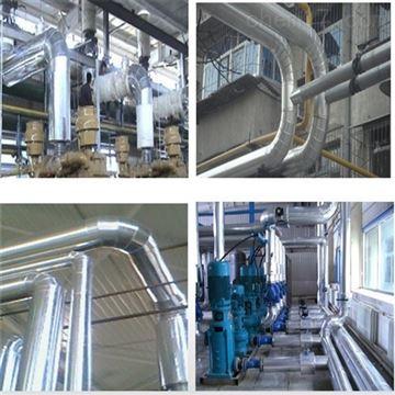 1200*600兰州市 现场输水管道玻璃棉管铁皮保温施工