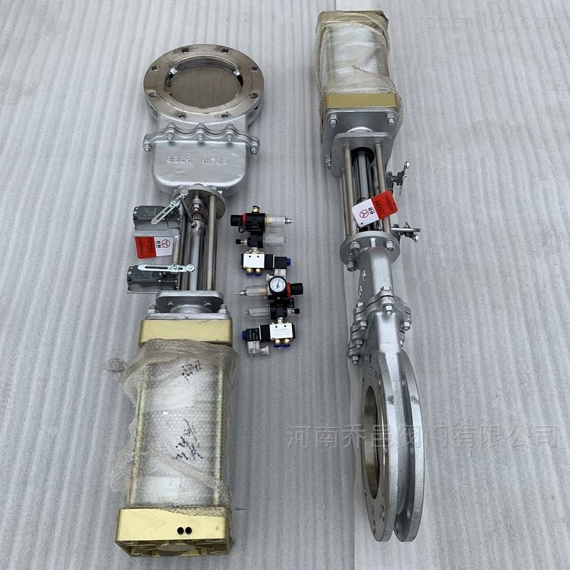气动刀型插板阀 不锈钢气动刀形闸阀