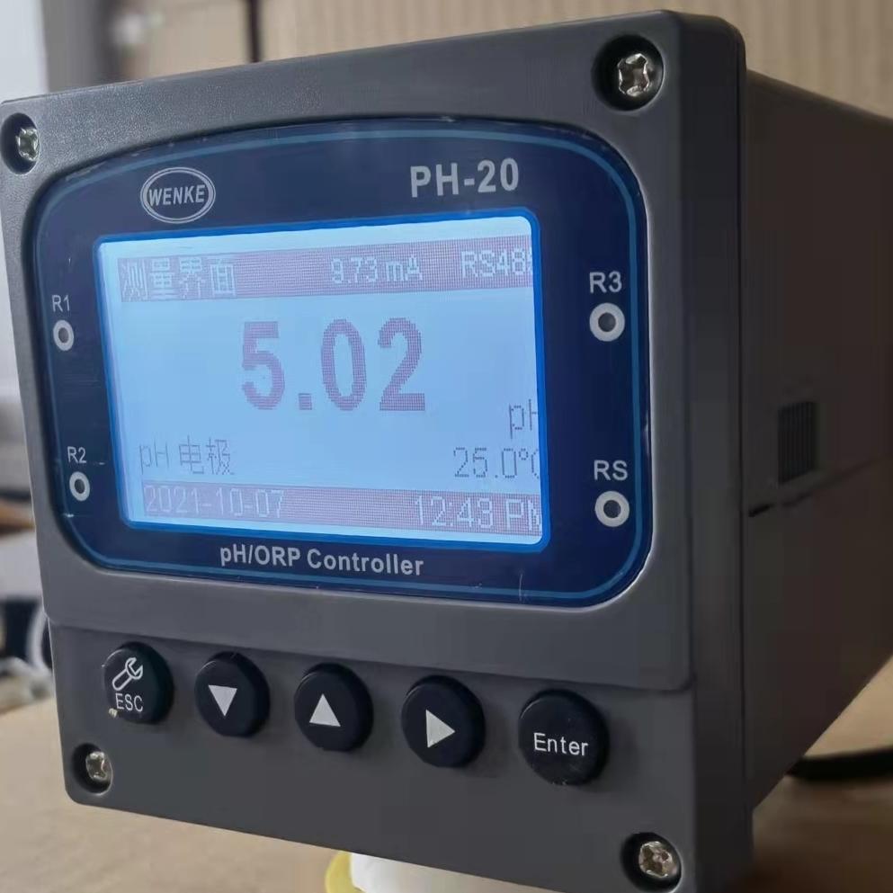 WENKE工业在线ph计酸度计 PH/ORP控制器