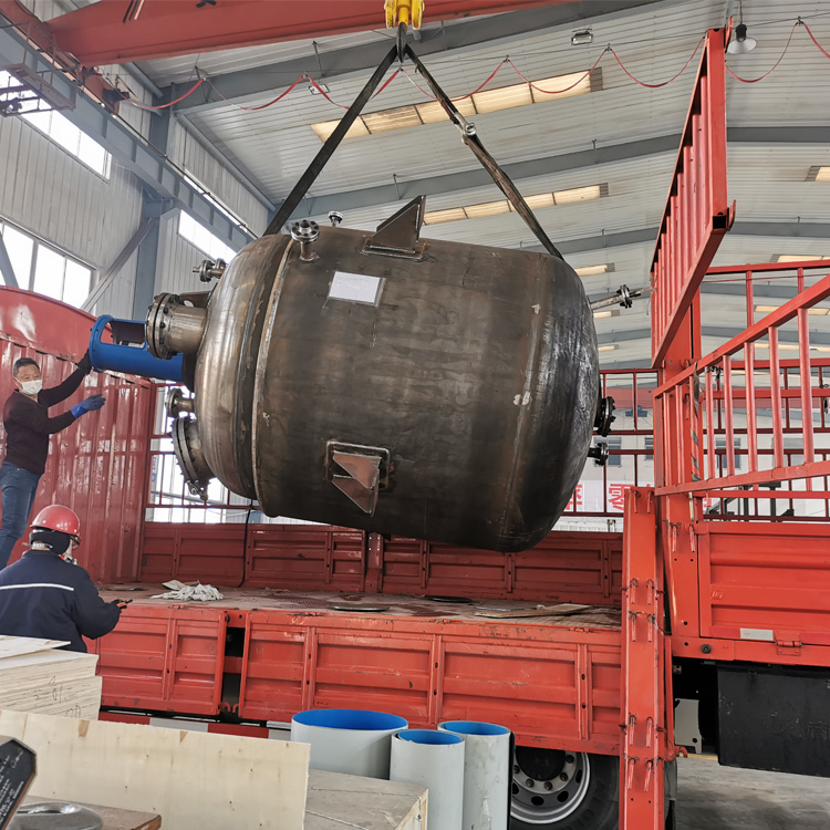 7000L蒸发釜已完工发往潍坊客户处