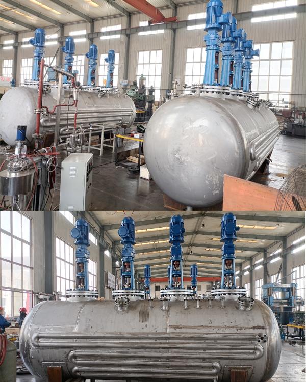 7000L连续反应装置已完工发往潍坊