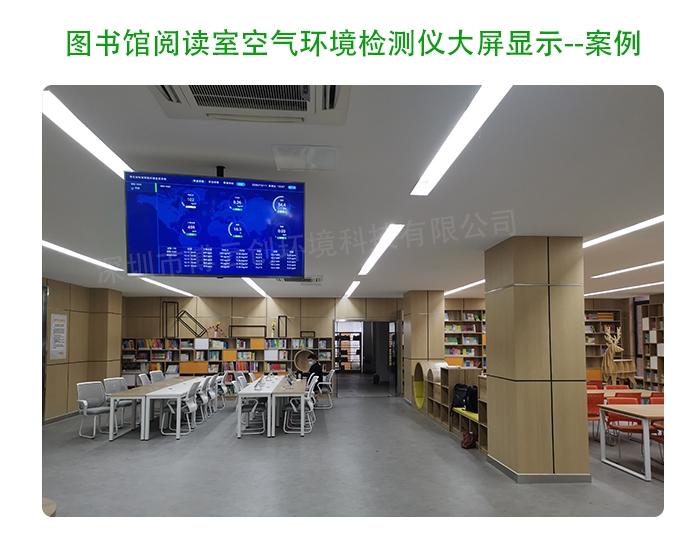 图书馆空气质量检测仪案例图