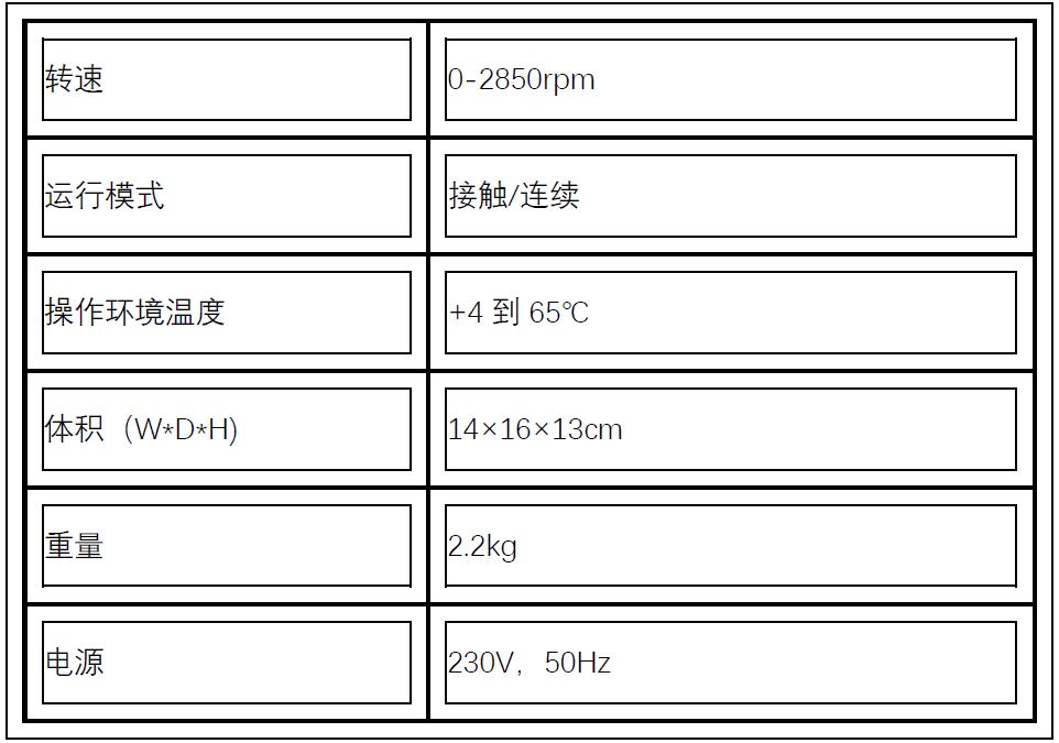 Labnet漩涡混合仪VX-200技术参数