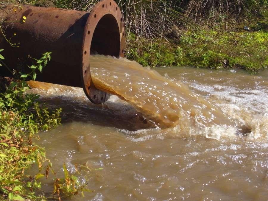 工业污水排水口
