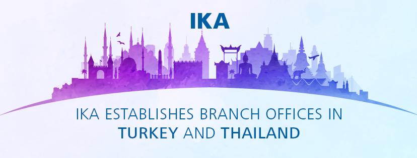 IKA 在泰国和土耳其的新建子公司开业运行