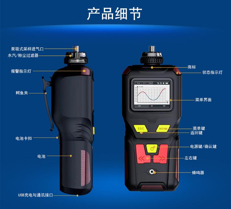 <strong>泵吸式丙烯酸气体报警器</strong>